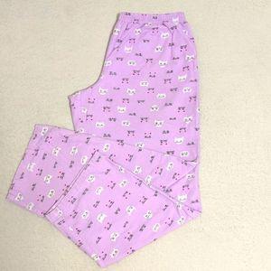 Joe Boxer Pink Cat Pajama Pants